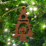 Bear in a Tree Ornament Christmas California Redwoods Souvenir Handmade Wood Ornament Collectible Travel Gift Rustic Home Decor
