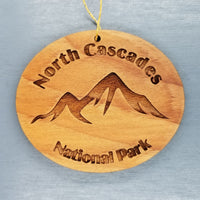 North Cascades Ornament Handmade Wood Ornament North Cascades National Park Washington Souvenir