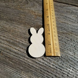 Wood Cutout Bunny Rabbit 2.8 Inch Unfinished - Lot of 10 Craft Blanks Easter