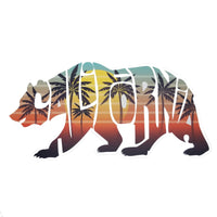 "California Decal – CA Bear - Travel Sticker – Souvenir Sticker – CA Decal – Travel Gift 5"" Made in USA Retro Postcard Bear Cutout Kiss Cut"