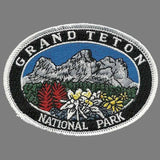 Wyoming Patch – WY Grand Teton National Park - Travel Patch Iron On – 3.5""
