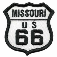 Missouri Patch - Route 66 Patch – Iron On US Road Sign – Travel Patch2.5""
