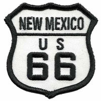 "New Mexico Patch - Route 66 Patch – Iron On US Road Sign – Travel Patch 2.5"" NM"