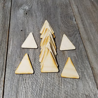 Wood Cutout Triangles - 2.5 Inch - Unfinished Wood - Lot of 12 - Wood Blank Craft Projects - DIY - Make Your Own - Teacher Supplies