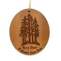 Henry Cowell Redwoods State Park Ornament - Forest Trees Christmas - Handmade Wood Ornament - Travel Gift - California Redwoods Souvenir