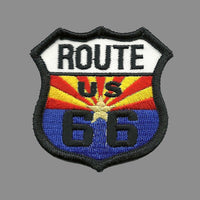 US Route 66 Arizona State Flag Iron on Patch