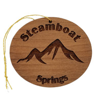 Steamboat Springs CO Ornament Handmade Wood Ornament Colorado Souvenir
