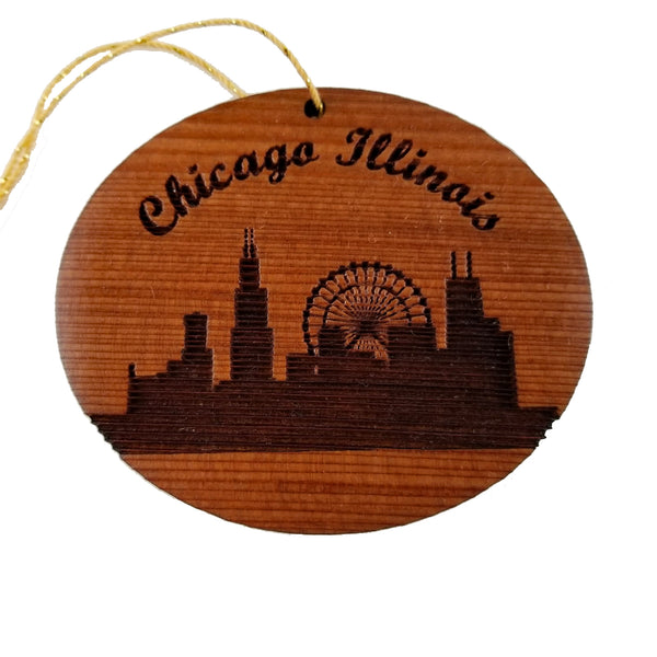 Chicago Skyline Ornament Illinois Christmas Made in USA