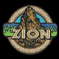 "Utah Patch – UT Zion National Park - Travel Patch Iron On – Souvenir Patch – Embellishment Applique – Travel Gift 2.75"" Rock Formation Brown"