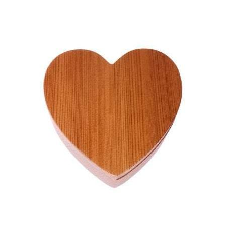 Wood Heart Box with California Redwood Jewelry Box - Ring Box