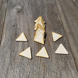 Wood Cutout Triangles - 1.75 Inch - Unfinished Wood - Lot of 24 - Wood Blank Craft Projects - DIY
