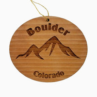 Boulder Colorado Ornament Handmade Wood Ornament CO Souvenir Mountains Resort Ski