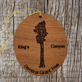 General Grant Tree King's Canyon National Park Redwood Ornament