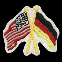USA and Germany Flags Iron On Patch Crossed Flags - Heritage Pride