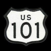 US 101 Highway Sign Patch Iron On Souvenir