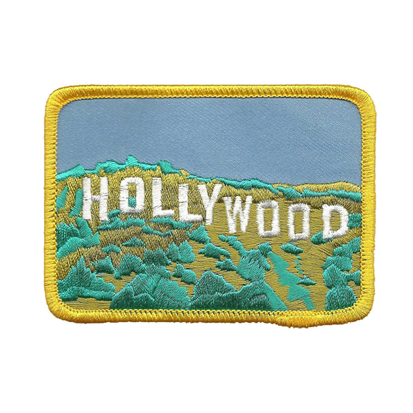 Hollywood Sign in the Hills Iron on Patch