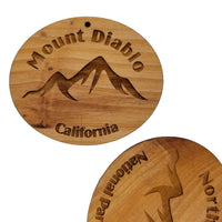 Dome Peak Ornament Wood Ornament Washington Souvenir Mountain Climbing Dome Glacier WA Cascades Hiking Mountaineering