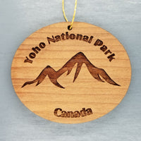 Yoho National Park Ornament Handmade Wood Ornament Canada Souvenir Mountains  British Columbia