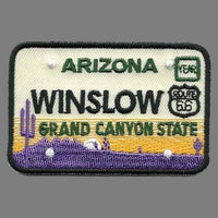 Winslow Arizona Patch – Grand Canyon State – License Plate Travel Patch AZ Souvenir Embellishment or Applique