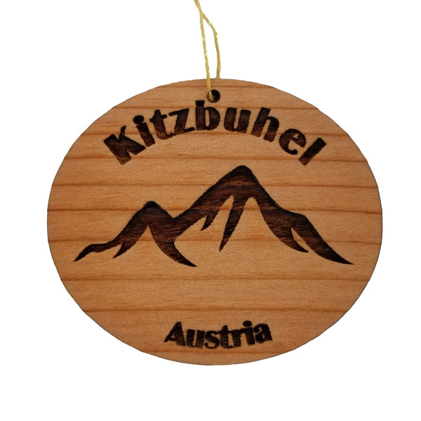 Kitzbuhel Ornament Wood Ornament Souvenir Mountain Resort Skiing Skier Innsbruck Austria Alpine Alps