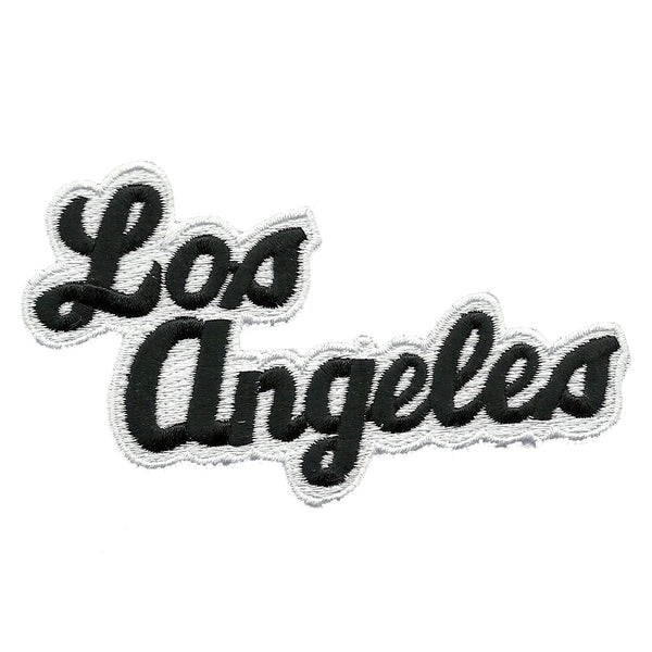 Los Angeles Patch - Script Black and White - California