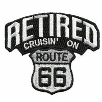 Retired Patch - Cruisin on Route 66 Patch – Iron On US Road Sign – Travel Patch 3""