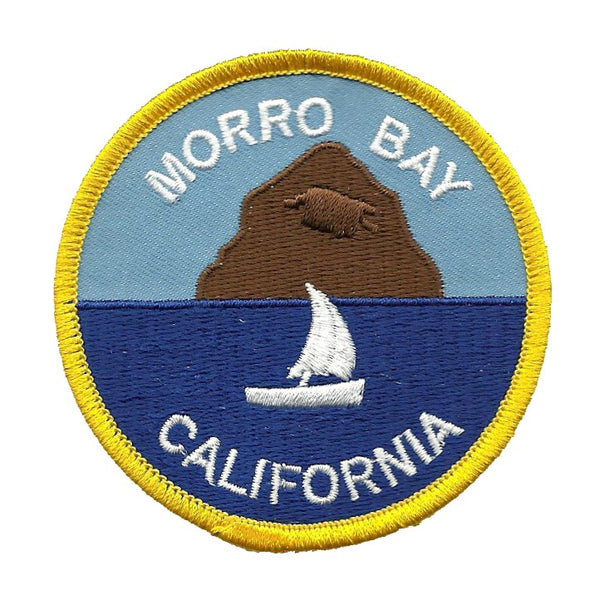 California Patch - Morro Bay Rock Iron On Patch