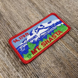 California Patch - Mt Shasta Iron On Patch - Rectangle