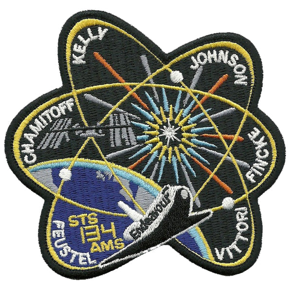 NASA STS-134 AMS Endeavour Iron On Patch