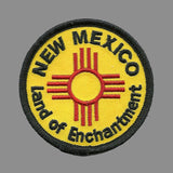 New Mexico Land of Enchantment Iron on Circle Patch 2.5""