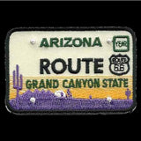 Route 66 Arizona Patch – Grand Canyon State – License Plate Travel Patch AZ Souvenir Embellishment or Applique AZ State