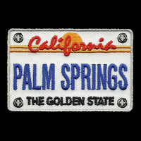 Palm Springs Patch - California Golden State - CA License Plate