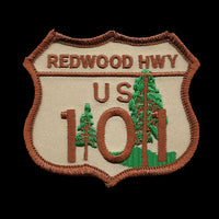 Redwood Hwy US 101 Sign Patch - California Souvenir