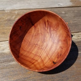 Redwood Bowl Hand Turned 5 Inch Handmade California Salad USA Made Curly #242