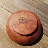 California Redwood Bowl Handmade 5 Inch Burl Wood Art #249