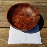 California Redwood Bowl Hand Turned 5 Inch Handmade Salad USA Made Burl #251