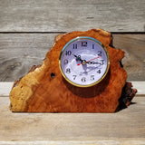 Redwood Burl Clock Desk Office 2 Tone Sitting Wood #145