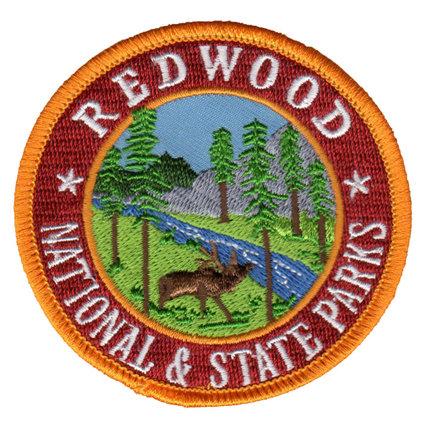 Redwoods National and State Park Iron On Patch