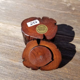 Handmade Wood Ring Box Rustic Redwood #252