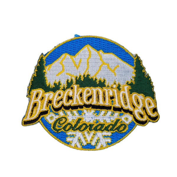 Breckenridge Colorado Patch – Ski Patch- CO Resort Patch – Mountains Trees Snowflakes Colorado Souvenir – Travel Patch – Iron On Applique