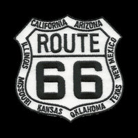 Route 66 With all Route State Names Iron On Patch