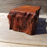 Wood Jewelry Box Redwood Tree Engraved Rustic Handmade Curly Wood #196 Gift for Men Gift for Women Anniversary Gift Housewarming Home Decor