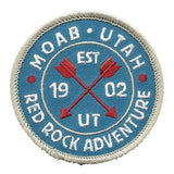 Utah Patch – Moab UT – Red Rock Adventure - Arches National Park – Travel Patch Iron On – UT Souvenir Patch Circle 2.5″ Travel Gift