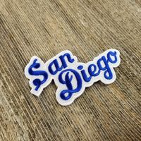 San Diego Patch - Script Blue and White - California