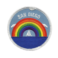 San Diego Patch - Rainbow and Sailboat - California Souvenir