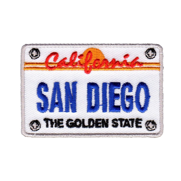 San Diego License Plate California Patch Iron On