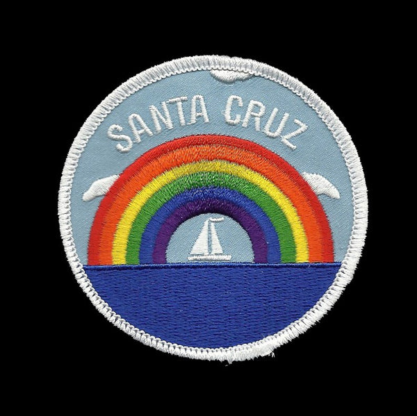 Santa Cruz Patch - Rainbow and Sailboat - California Souvenir