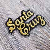 Santa Cruz Patch - Script Black and Gold - California