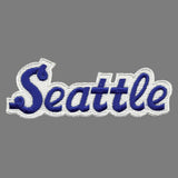 Seattle Patch - Script Blue and White - Washington Souvenir