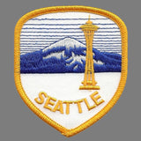 Seattle Patch - Space Needle - Mt Rainier Washington